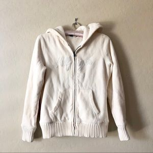 TOMMY HILFIGER cozy soft white hoodie sweater